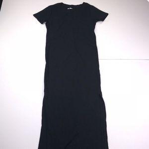 Abercrombie & Fitch XS Black Long Shift Dress